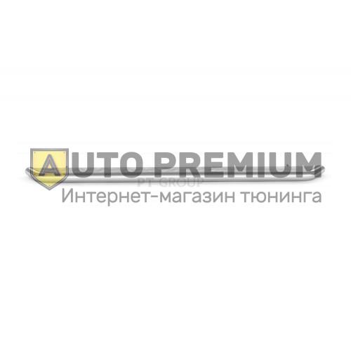 Защита порогов с алюминиевой площадкой (НПС) Nissan Terrano с 2014